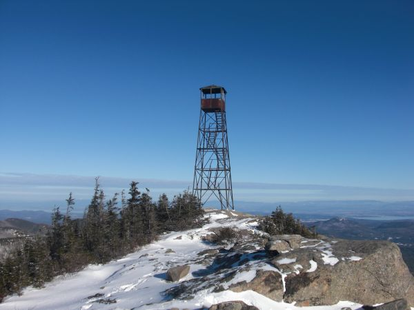 Hurricane Mountain Fire Tower Full View