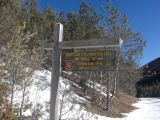 Hurricane Mountain Trail Sign