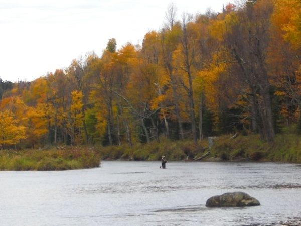 Fly fisherman along the Ausable River