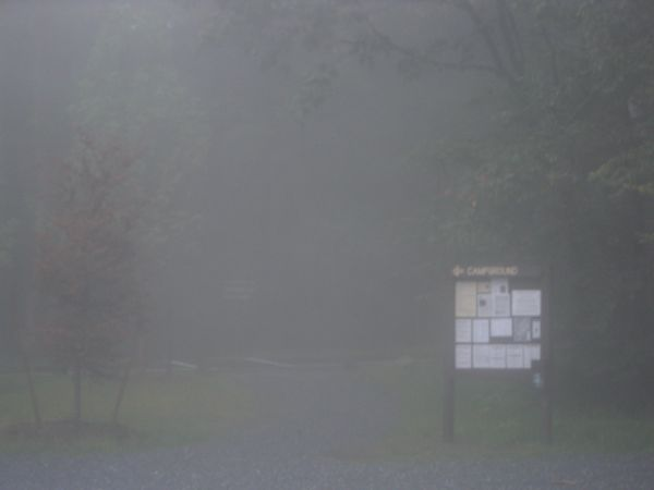 Parking area for Mount Greylock campground and trail to Sperry Road