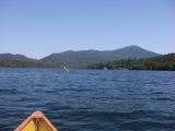 Kayaking toward Whiteface