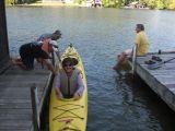 Tandem Kayak Action