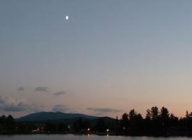Moon Over Mirror Lake